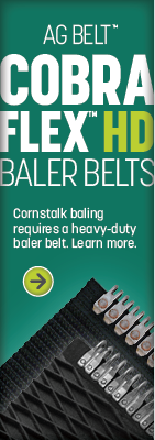 Cornstalk baling requires a heavy-duty baler belt.