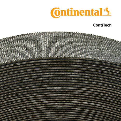 "4"" Wide 3-Ply Mini Rough Top G310 Bulk Roll Baler Belt (per Foot)"