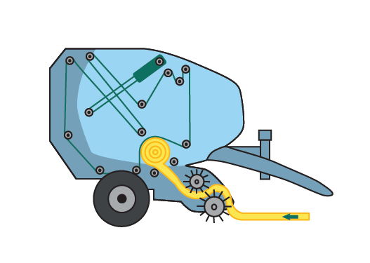 Splicess Baler Belting Illustration