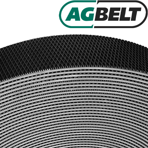 "7"" Wide 3-Ply Heavy-Duty Diamond Top P521 Bulk Roll Baler Baler Belt (per Foot)"